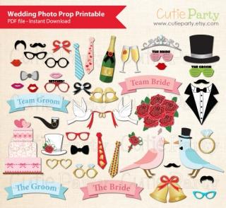 結婚式用フォトブースプロップス
