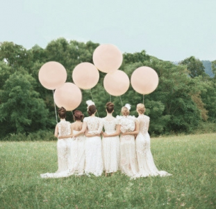 ジャイアントバルーン巨大風船結婚式薄いピンクフォトプロップス写真