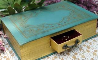 本ブック型ウェディングピロー洋書引き出しリングボックス2