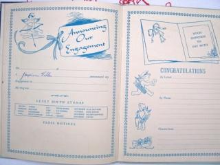 1950年代ヴィンテージビンテージウェディングダイアリー2