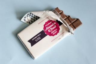 ウェディングアイデア招待状チョコレート