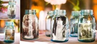結婚式装飾_瓶の中に写真2