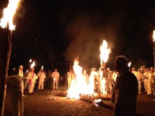 桧原神社にて