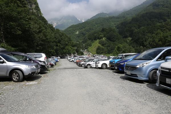 猿倉 登山者用駐車場