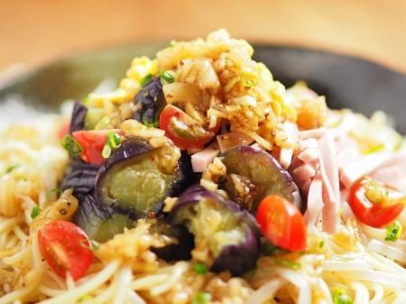 茄子と魚肉ソーセージの冷製21