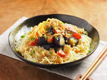 茄子と魚肉ソーセージの冷製26