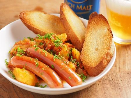 鯖缶とじゃがいものトマト煮ウイ09