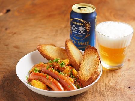 鯖缶とじゃがいものトマト煮ウイ07