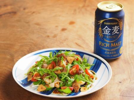 金麦チキンステーキと水菜のサ07 (2)