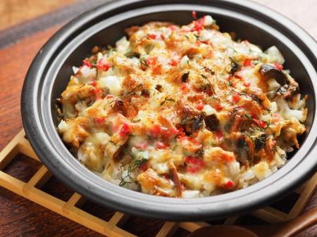 鯖缶で焼きチーズご飯16