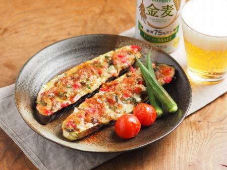 鯖缶となすのチーズ焼き07