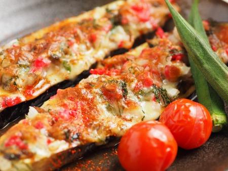鯖缶となすのチーズ焼き13