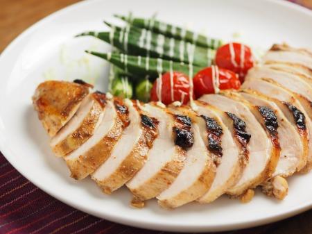 鶏むね肉のスパイスぽん酢焼06