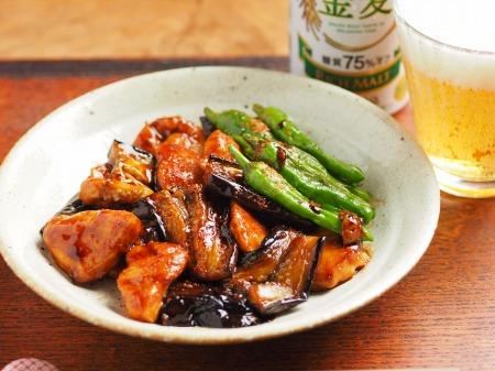 鶏むね肉と茄子の蒲焼き風31