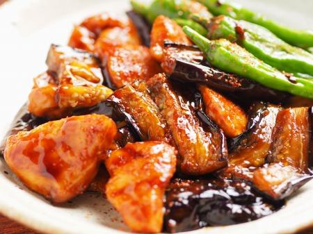 鶏むね肉と茄子の蒲焼き風28