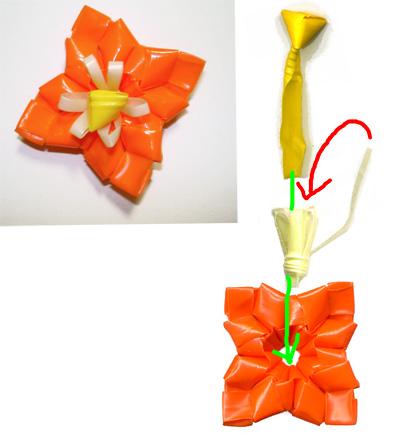 菱玉花 作り方 花弁