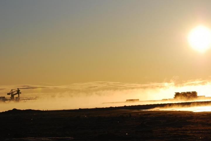 港の朝 -18℃
