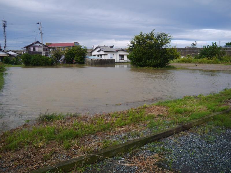 雨による浸水