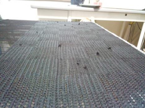 黒の網代織り