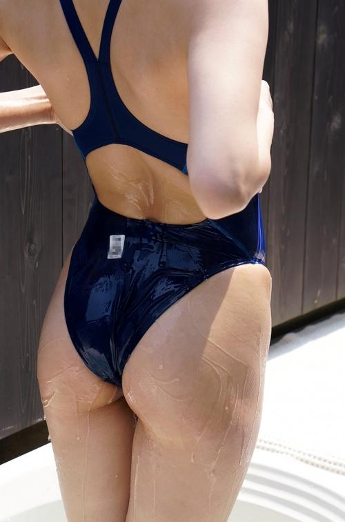 濡れ透け競泳水着 36