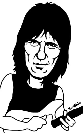 Jeff Beck caricature