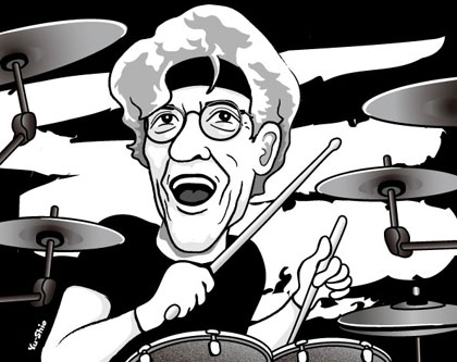 Stewart Copeland caricature