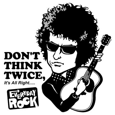 EverydayRock T Shirt Bob Dylan caricature