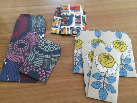 マリメッコ marimekko ハンドメイド 手作り 無料 カレンダー ポチ袋 封筒 ペーパークラフト