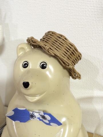 エコクラフト クラフトバンド 北欧 カンカン帽 ハンドメイド エムケートレスマー MK Tresmer Polar Bear Money Box シロクマ 白熊 白くま 貯金箱 北欧インテリア 北欧雑