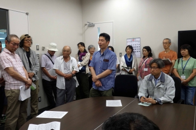 原子力機構に申し入れ(15年8月2日)