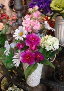 8月3日ブログ供花ピンク