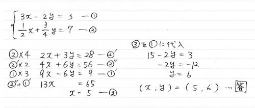 連立方程式 解き方1