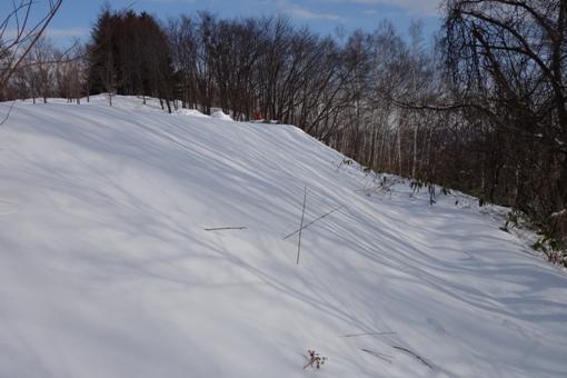 雪面の縞々
