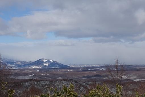 札幌市街地方面の眺望