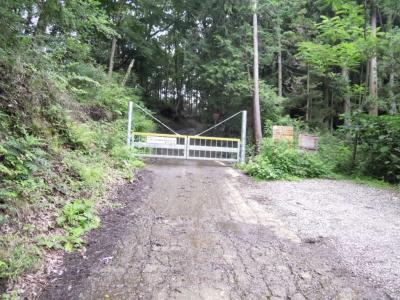 山西林道入り口