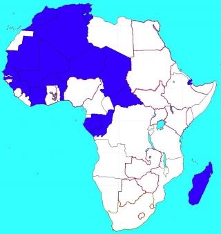 フランスのアフリカ植民地