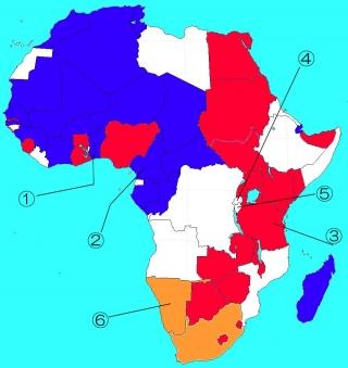 1919年以降のアフリカ植民地