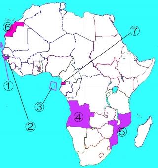 スペインポルトガルのアフリカ植民地
