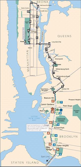 ニューヨークシティマラソンのコース