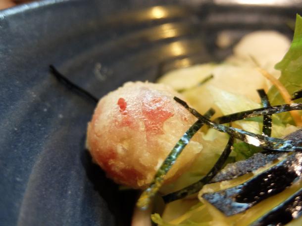 鱧と夏野菜天の梅おろしぶっかけ