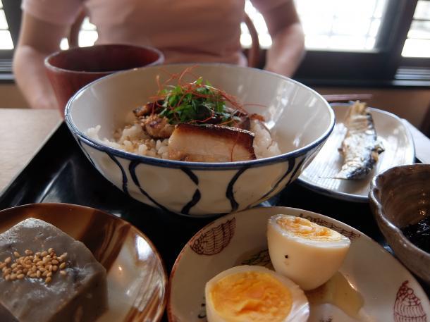 焼豚丼定食