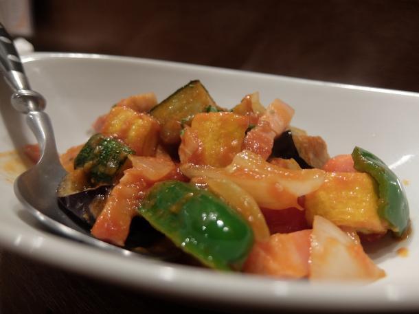 夏野菜のトマト煮カポナータ