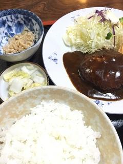 ランチショップ あんざい ハンバーグ定食1
