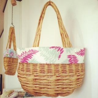 夏のもよう。linowaさんかごバッグ