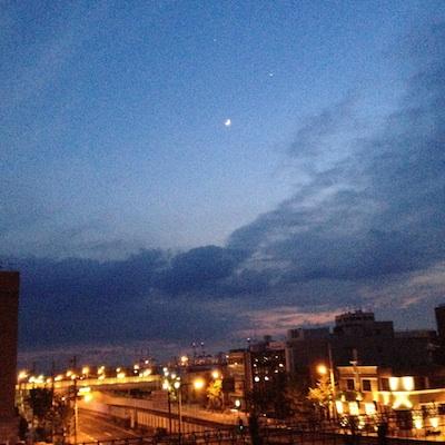 くらしともしび星空ばー月と星