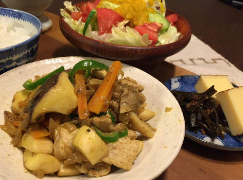 Jly15_肉野菜のカレー風味炒め