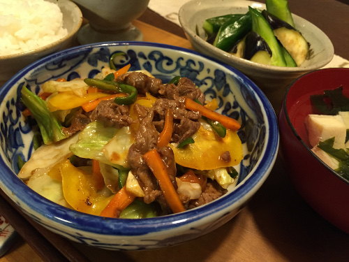 Jly23_肉野菜の中華風炒め