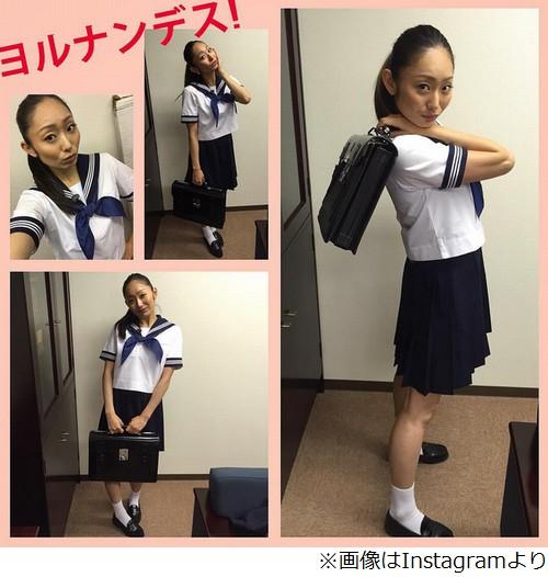 安藤美姫(27歳)がセーラー服姿を披露 「ちょっと照れくさいのです…汗」