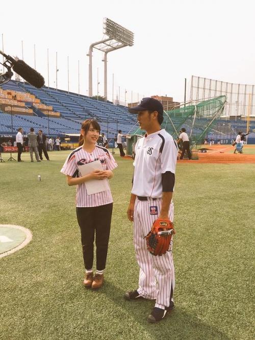 ヤクルト藤井、18歳の巨乳マネージャー 都丸紗也華に興奮する