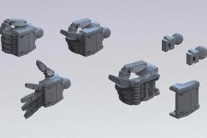 ビルダーズパーツHD-MSハンド01(連邦系)ダークグレーt1